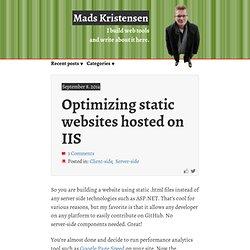 Optimizing static websites hosted on IIS