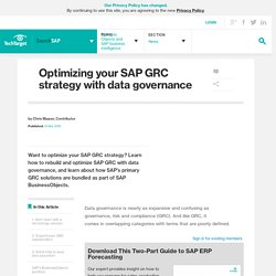 Optimizing your SAP GRC strategy with data governance