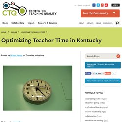 Optimizing Teacher Time in Kentucky