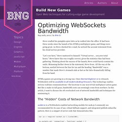 Optimizing WebSockets Bandwidth