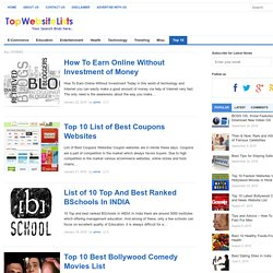 Optimum Top 10 Lists of Best All things - Top Website Lists