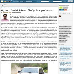 Optimum Level of Safeness of Dodge Ram 1500 Bumper by Rajiv Pratap Singh