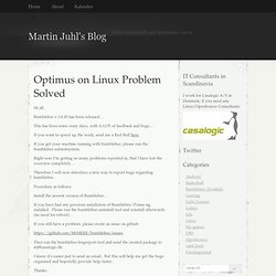 Optimus on Linux Problem Solved | Martin Juhl's Blog