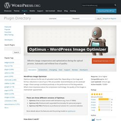 Optimus - WordPress Image Optimizer — WordPress Plugins
