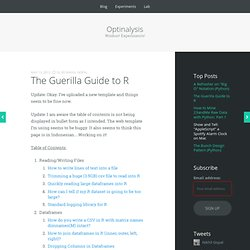 The Guerilla Guide to R