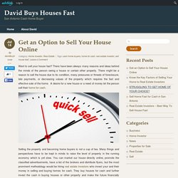 Get an Option to Sell Your House Online