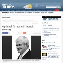 Optional flat tax will launch recovery