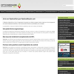 Graphique option binaire net