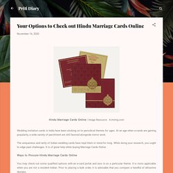Your Options to Check out Hindu Marriage Cards Online