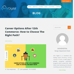 What are the Career Options for Commerce Students After 12th
