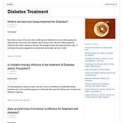 Options for diabetes treatment
