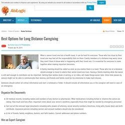 Best Options for Long Distance Caregiving