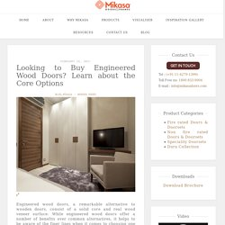 Options to explore while Buying Engineered Wood Doors