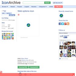 Boomy Icons: Web options Icon