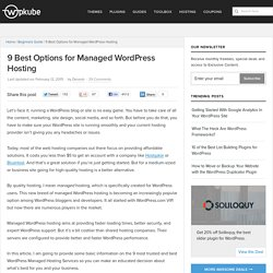 9 Best Options for Managed WordPress Hosting