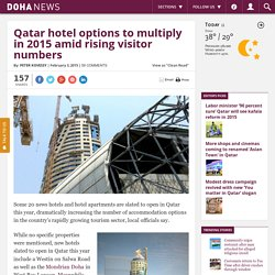 Qatar hotel options to multiply in 2015 amid rising visitor numbers
