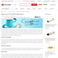 Options for FTTH Optical Fiber Cables