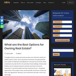 What are the Best Options for Owning Real Estate?