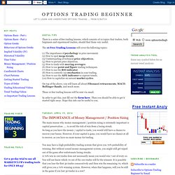 Options Trading Beginner