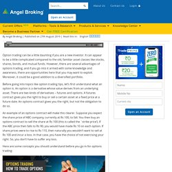 Overview on How to Trade Options: Top Strategies by Angel Broking