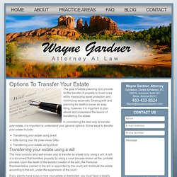 Options To Transfer Your Estate