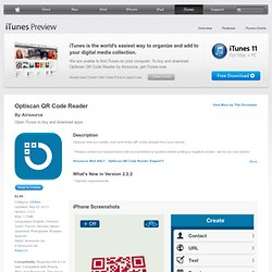 Optiscan - QR code scanner and generator for iPhone, iPod touch, and iPad on the iTunes App Store