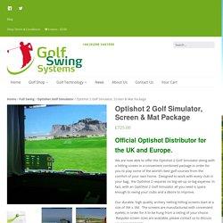 Optishot 2 Golf Simulator, Screen & Mat Package