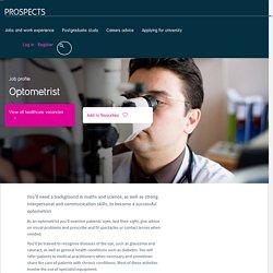 Optometrist job profile
