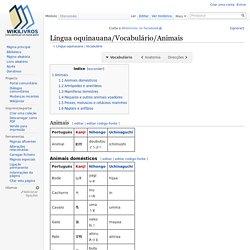 Língua oquinauana/Vocabulário/Animais - Wikilivros