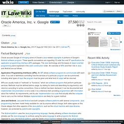 Oracle America, Inc. v. Google