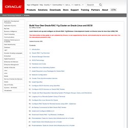 Build Your Own Oracle RAC 11g Cluster on Oracle Enterprise Linux and iSCSI