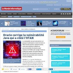 Oracle corrige la vulnérabilité Java qui a ciblé l'OTAN