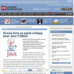Oracle livre un patch critique pour Java 7 (MAJ)