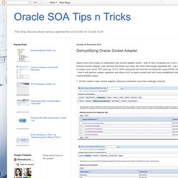 Oracle SOA Tips n Tricks: Demystifying Oracle Socket Adapter