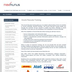 Oracle Flexcube Training