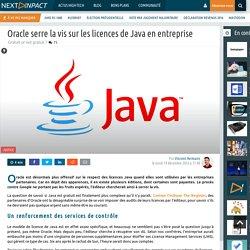 Oracle serre la vis sur les licences de Java en entreprise