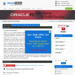 Oracle 11g Online Training - Online IT Guru