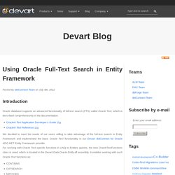 Using Oracle Full-Text Search in Entity Framework