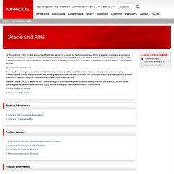 ATG Commerce: Online Commerce Software Solution