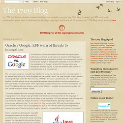 Oracle v Google: EFF warn of threats to innovation