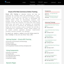 Oracle Atg Online Training