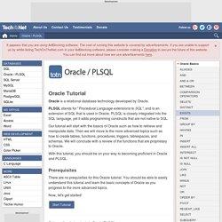 Oracle Tutorial