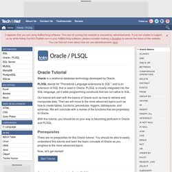 Oracle/PLSQL