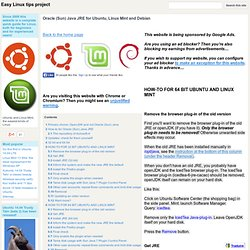 Oracle (Sun) Java JRE for Ubuntu, Linux Mint and Debian - Easy Linux tips project