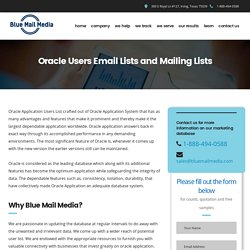 Oracle Users List - Email List of Oracle Customers