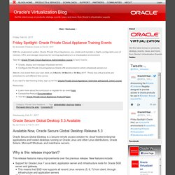 Oracle's Virtualization Blog
