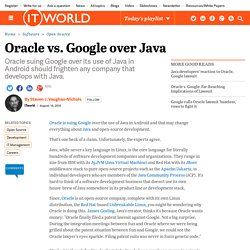 Oracle vs. Google over Java