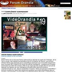 Forum Orandia - ****COMPLÉMENT SURPRENANT