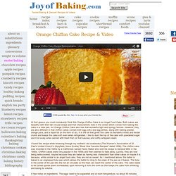 Orange Chiffon Cake Recipe