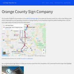 Orange County Sign Company